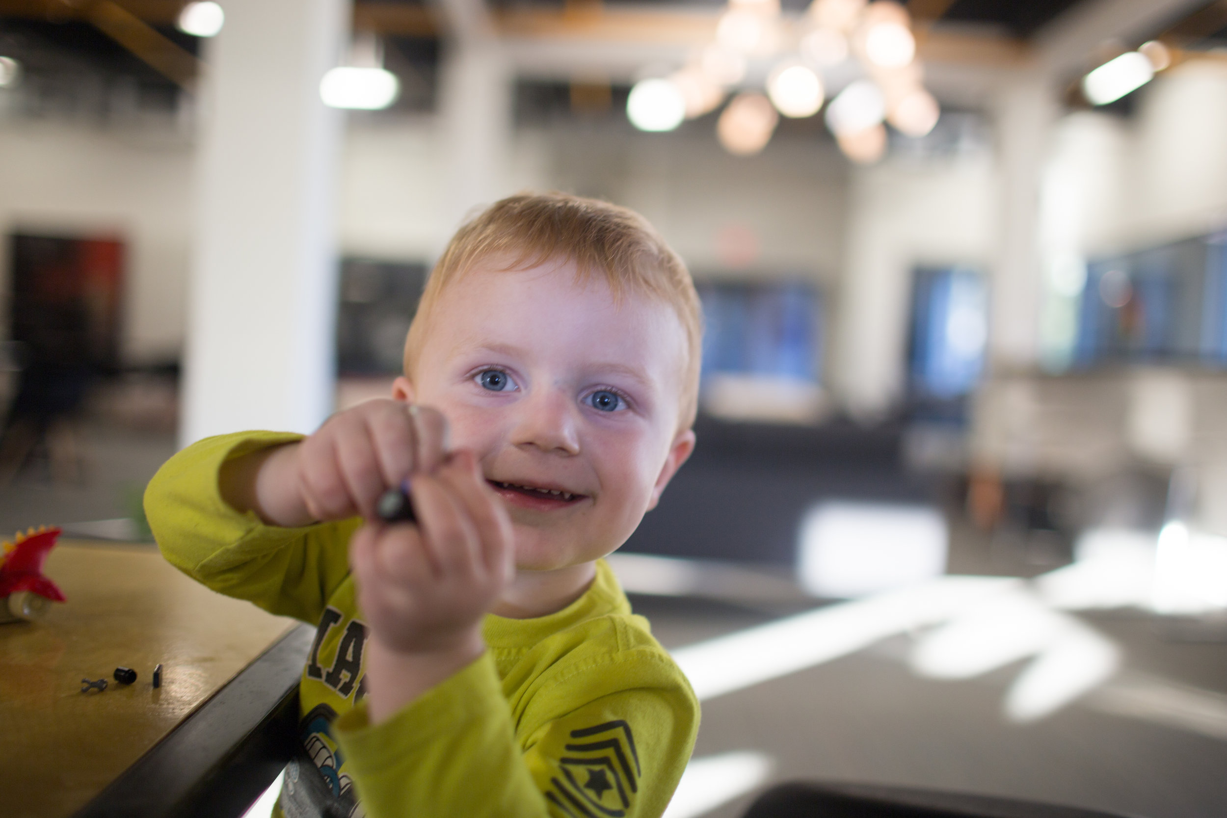 Erik is Igor's son. He's too young to be your fractional executive, but he loves playing with Lego's at Advent Coworking!