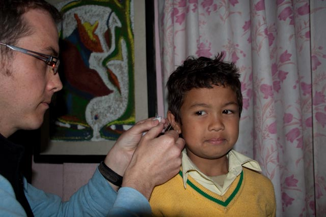 Acupuncture at an orphanage