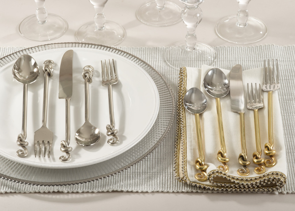 Knotted Design Flatware by Saro