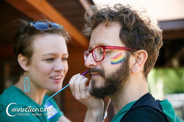 Happy Pride, Connection Campers! We love each and every one of you 💜🌈 • connection camp.com . . . . . #pride #loveislove #nycpride #summervibes #consciousness #campout #connectioncamp #community #connection #play #sleepawaycamp #campforadults #summeronmymind #play