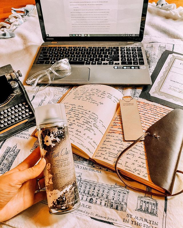 """Writing like a madwoman! 📝 My mission: Finish and edit a book in 5 months. So far, I've enjoyed the challenge because it's revealed abilities I didn't know I had. 📚 Raise the bar. Rise to the occasion. What about you? Do you work better when you have a deadline? ———————————————————- During my writing seasons, I tend to work A LOT... like 12 hours per day! 🙈 I don't invest as much time into """"beauty"""" when I'm focused on a deadline. That said, I need quick, effective products to keep me fresh (and sane) while I type away on my laptop. Some of my author must-haves include: blue light glasses, rose face mist, scrunchies, all the coffee, and dry shampoo! Right now, I'm a huge fan of IGK Hair First Class dry shampoo. 🙌🏻 The product eliminates oil and odor, soothes the scalp, and actually cleanses hair... which is great for me when I want to write first thing in the morning. It's also 100% vegan, cruelty free, gluten free, contains zero parabens or sulfates, has UV and heat protection. Color safe! Conditioning! Formulated without mineral oil! Only the good stuff. 😜 @igkhair #igkpartner #sephora #dryshampoo    Find the dry shampoo at Sephora! If you're a Sephora VIB + Rouge, you can get First Class for 20% off through August 27th. * * * * * * * #lifestyleblogger #aesthetic #lifestylephotography #cozy #writing #author #blogger #instagood #authorsofinstagram  #amwriting #bookstagram #reader #bookblogger #writersofinstagram  #booknerd #reading #lifestyle #digitalnomad #layout #makeup #creativelifehappylife #amreading #writer #thatsdarling #stylegram #vintage"""