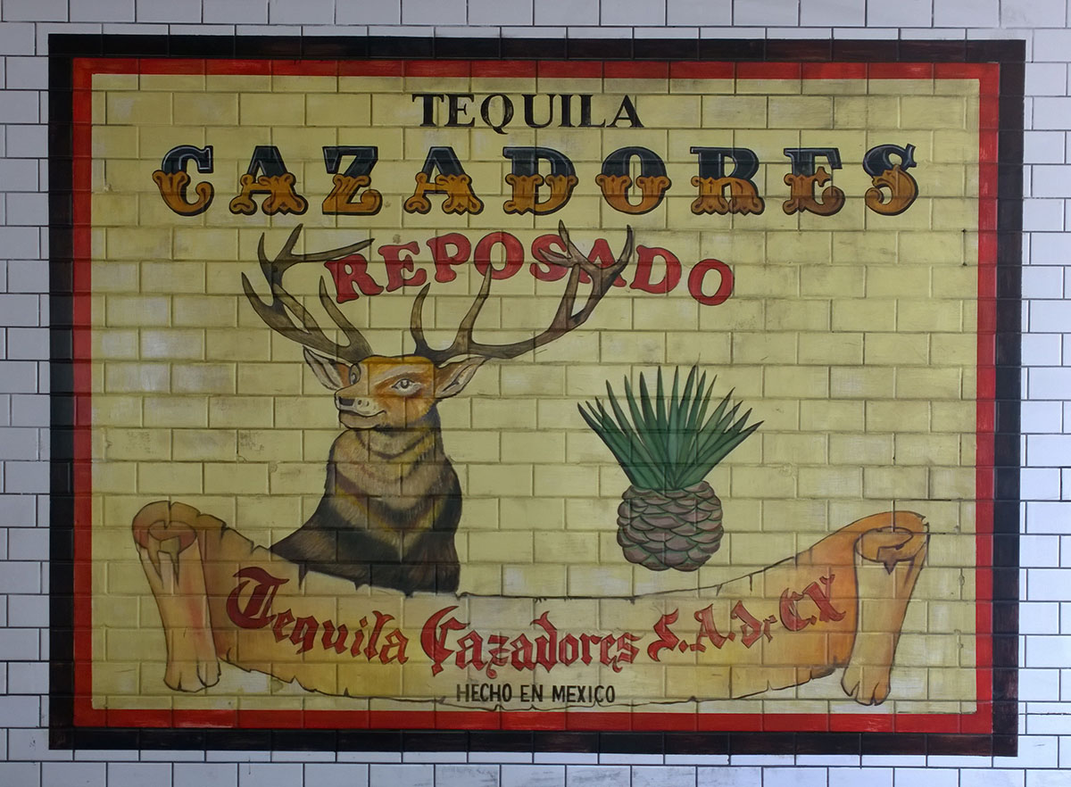 Cazadores Reposado Advertisement, Oil on tiles, 48 x 72 inch. copy.jpg