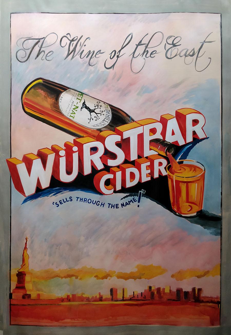 Wurstbar Cider Poster_Wurstbar NJC_acrylic on paper_72 x 48 inch.jpg