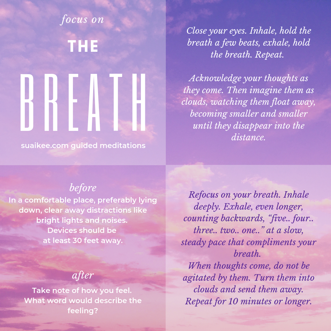 Focus on the breath