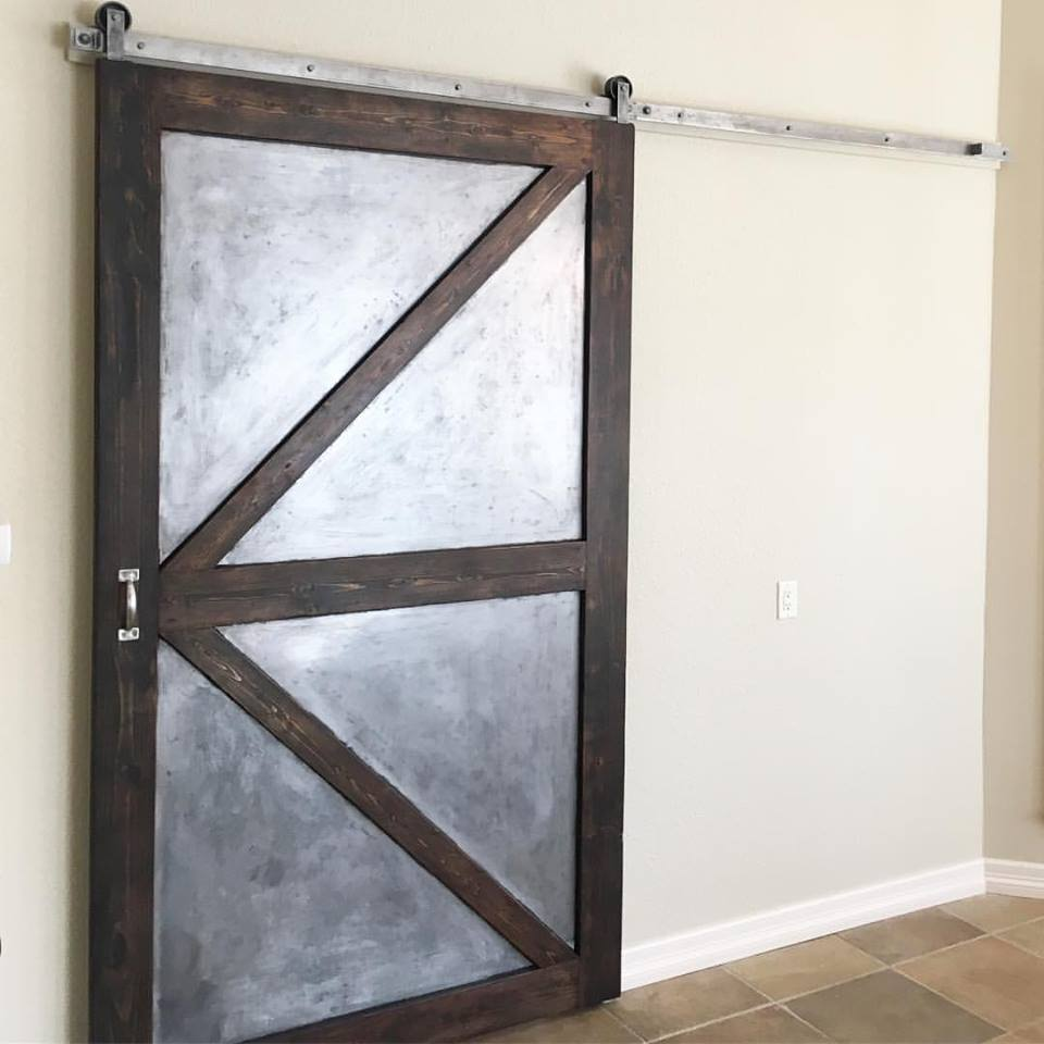 Metal/Wooden British Brace Barn Door