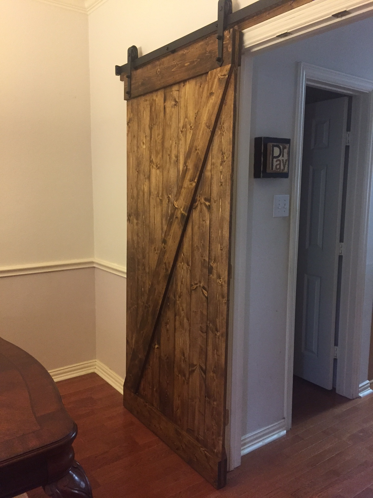 Z Barn Door (Vertical Plank Back)