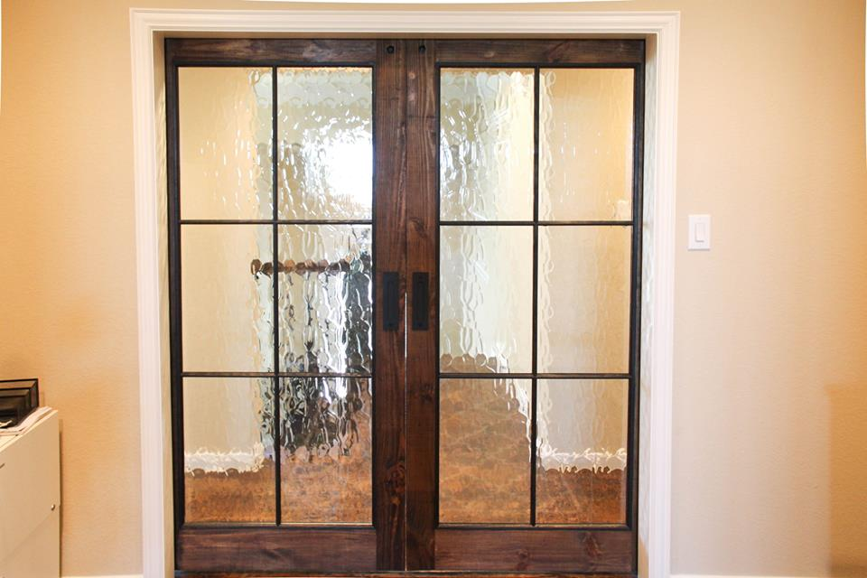 Glass Window Barn Door