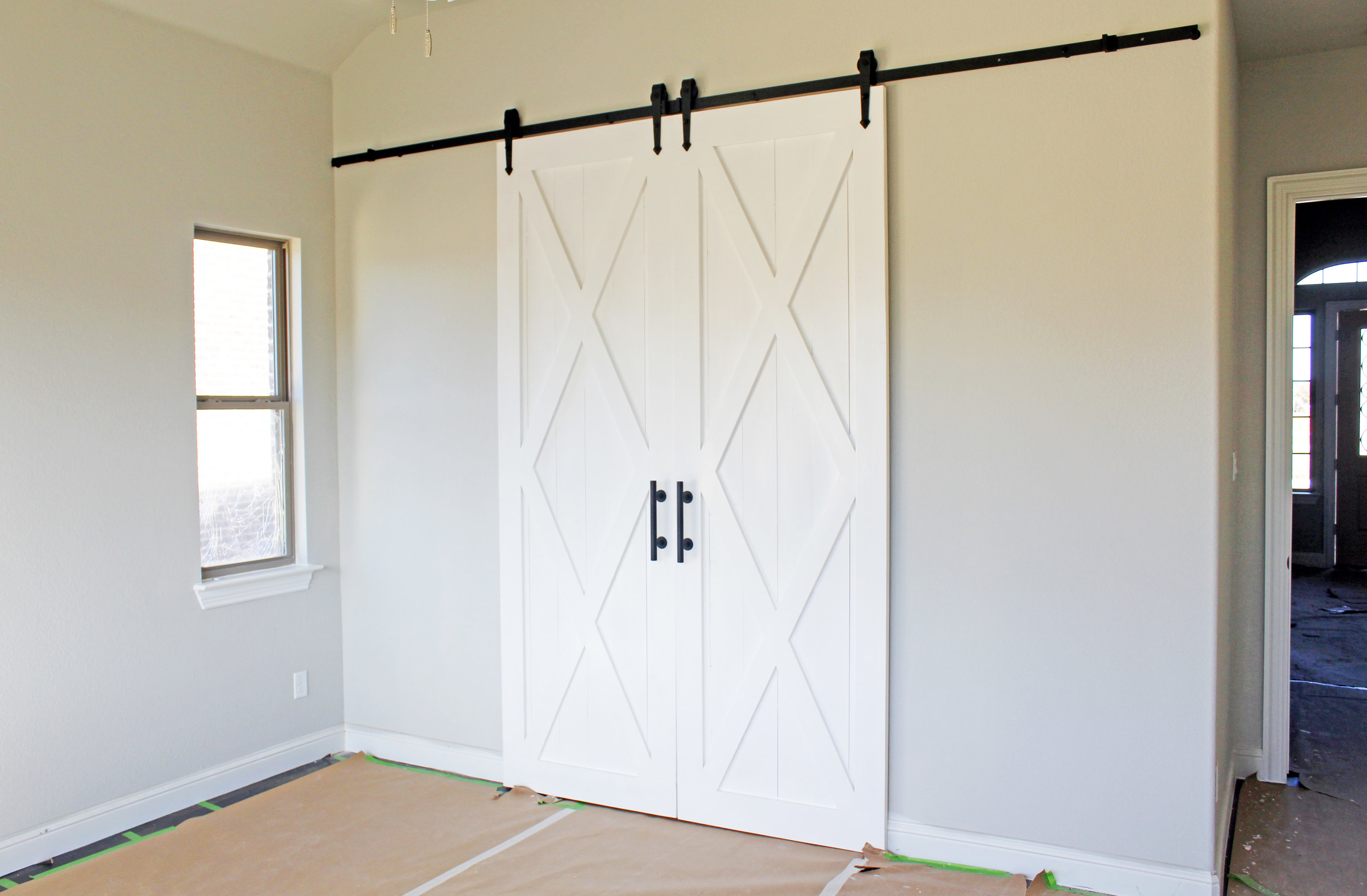 Double X With Border Barn Doors