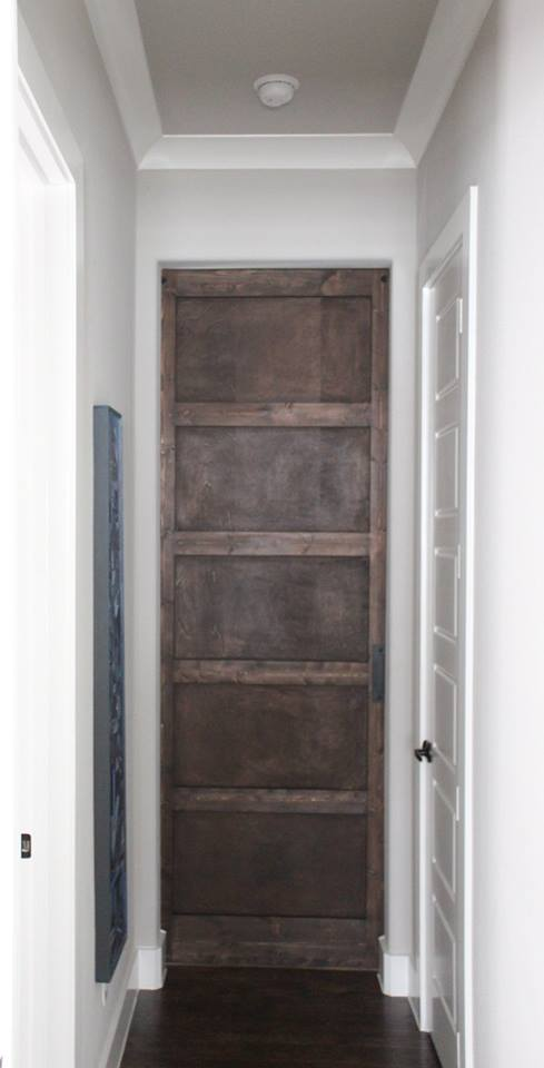 Modern 5 Panel Barn Door Stained
