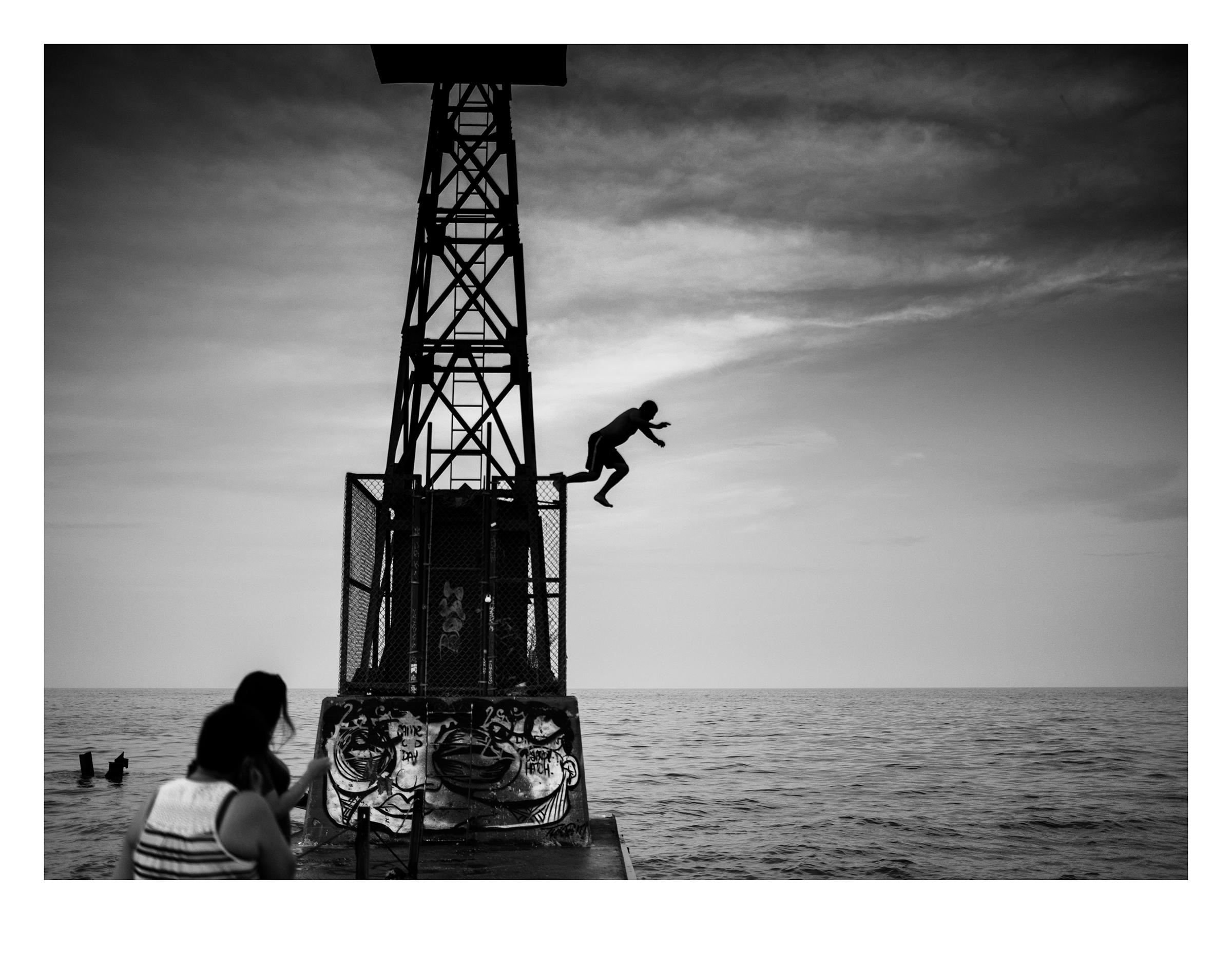 leap of faith | evening at the beach