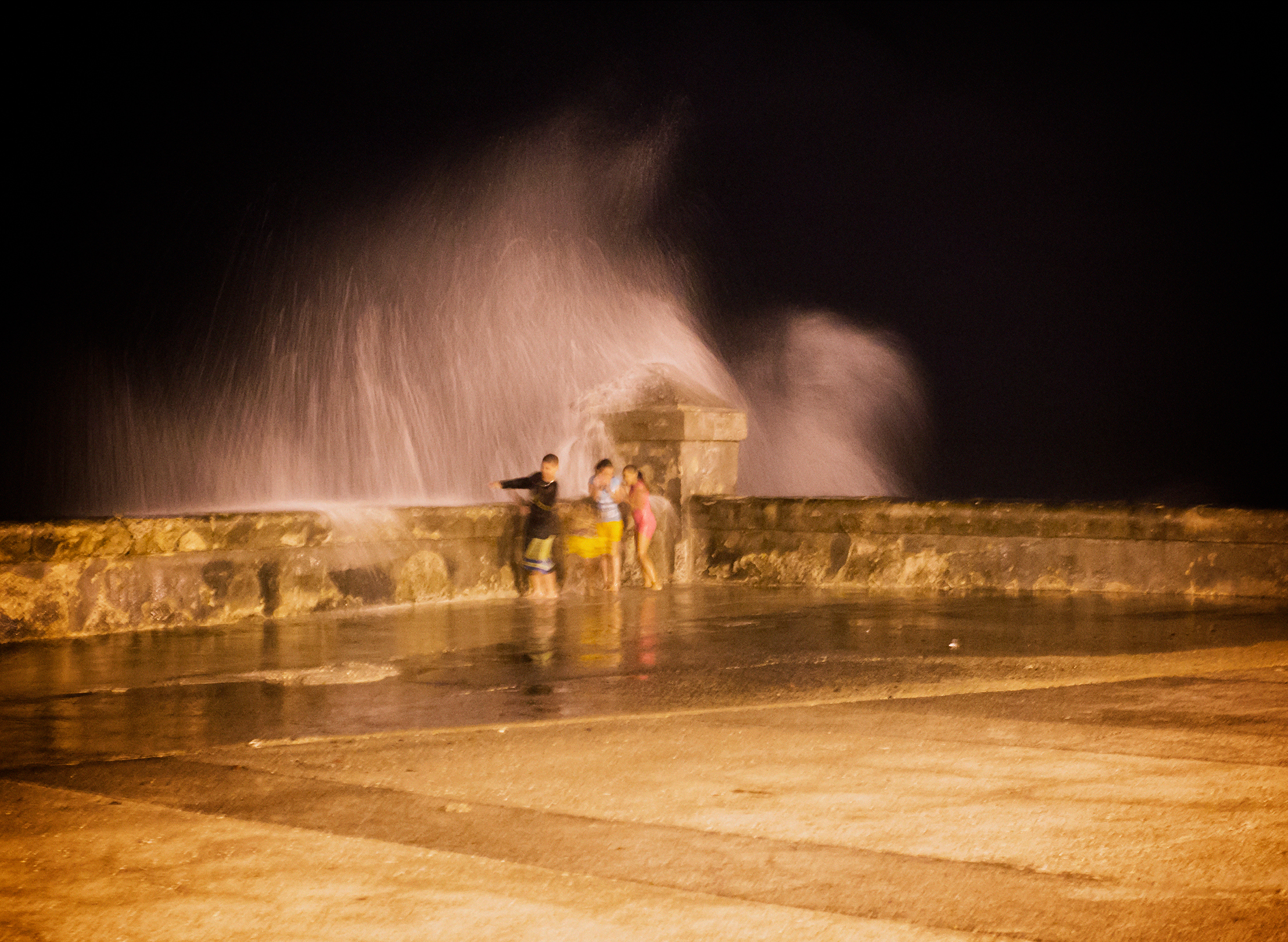 Water Dance on the Malecón