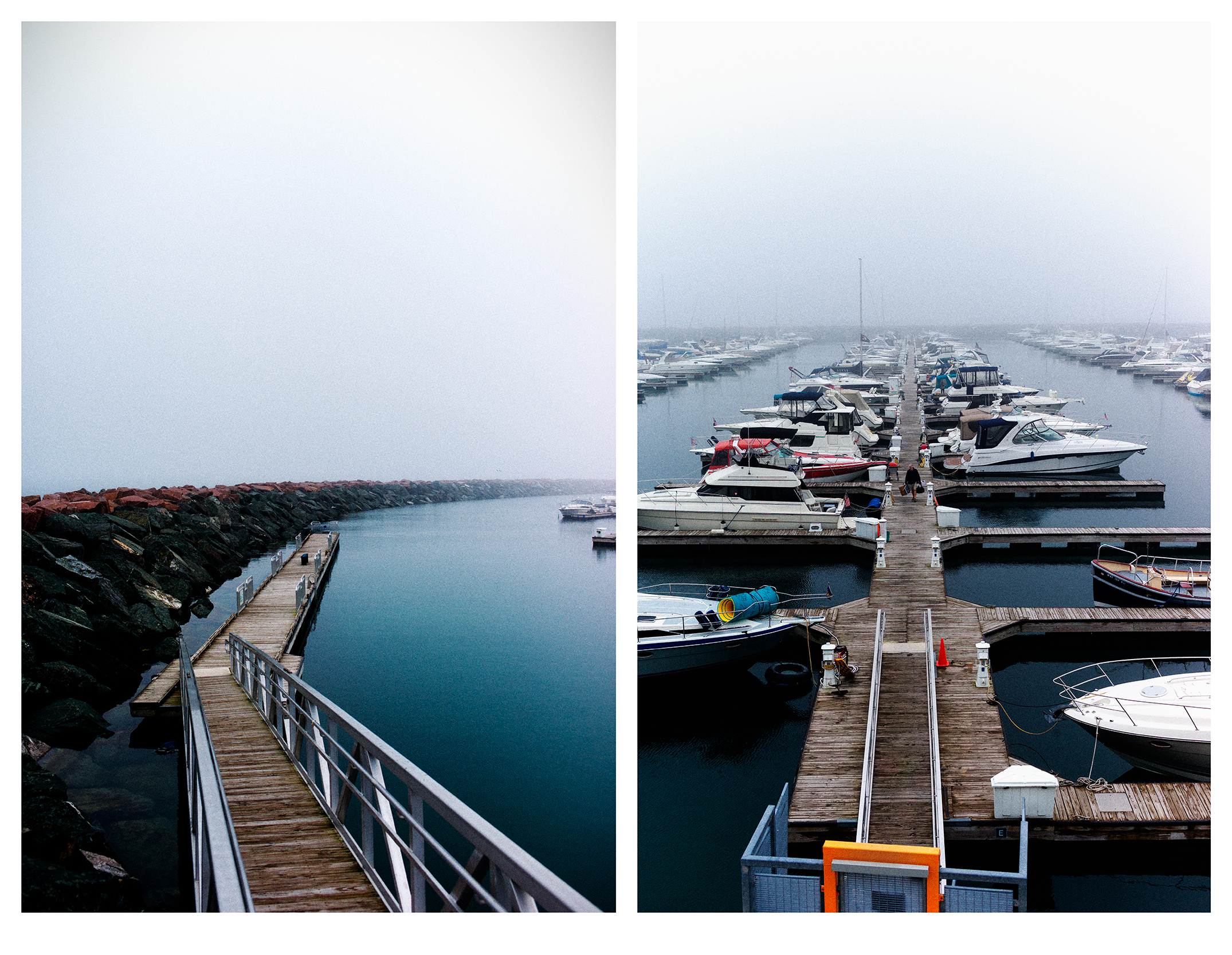 (L) Path Along The Breakwater | (R) At the Day's End