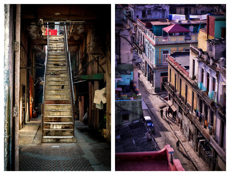(l) A Stairway in La Habana, Ed. 3/10 | (r) Morning Light, 314 Aguila Street, Ed. 2/10