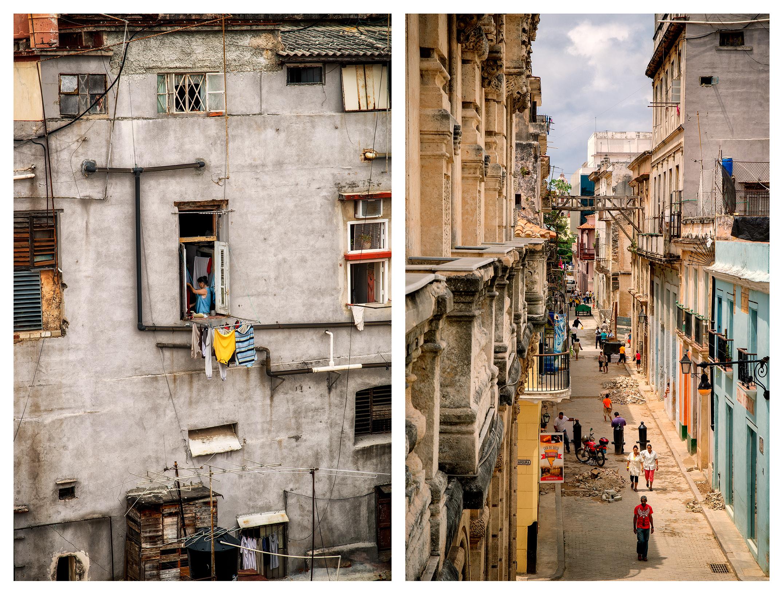 (l) Dia Del Lavado, Ed. 1/10 | (R) Street Life in La Habana, Ed. 4/10