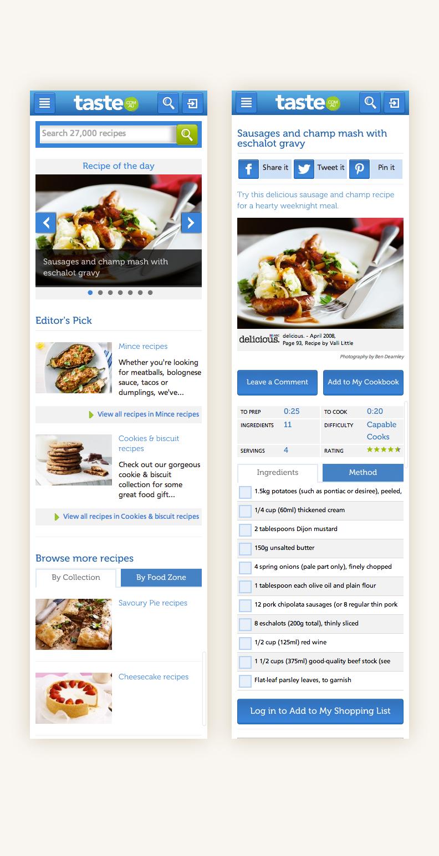 Mobile App redesigned alongside the desktop web experience
