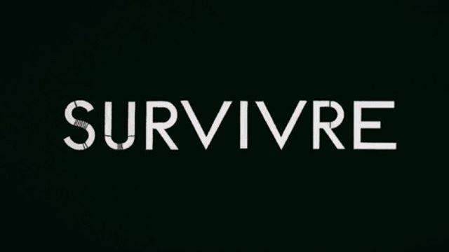 """Habillage et animation pour la web série documentaire """"Survivre"""" réalisé par Alexandre Pierrin, à découvrir sur France.tv Slash. Title Design survivaliste inspiré de """"L'art du tracé rationnel de la lettre"""" de D.Duvillé !"""