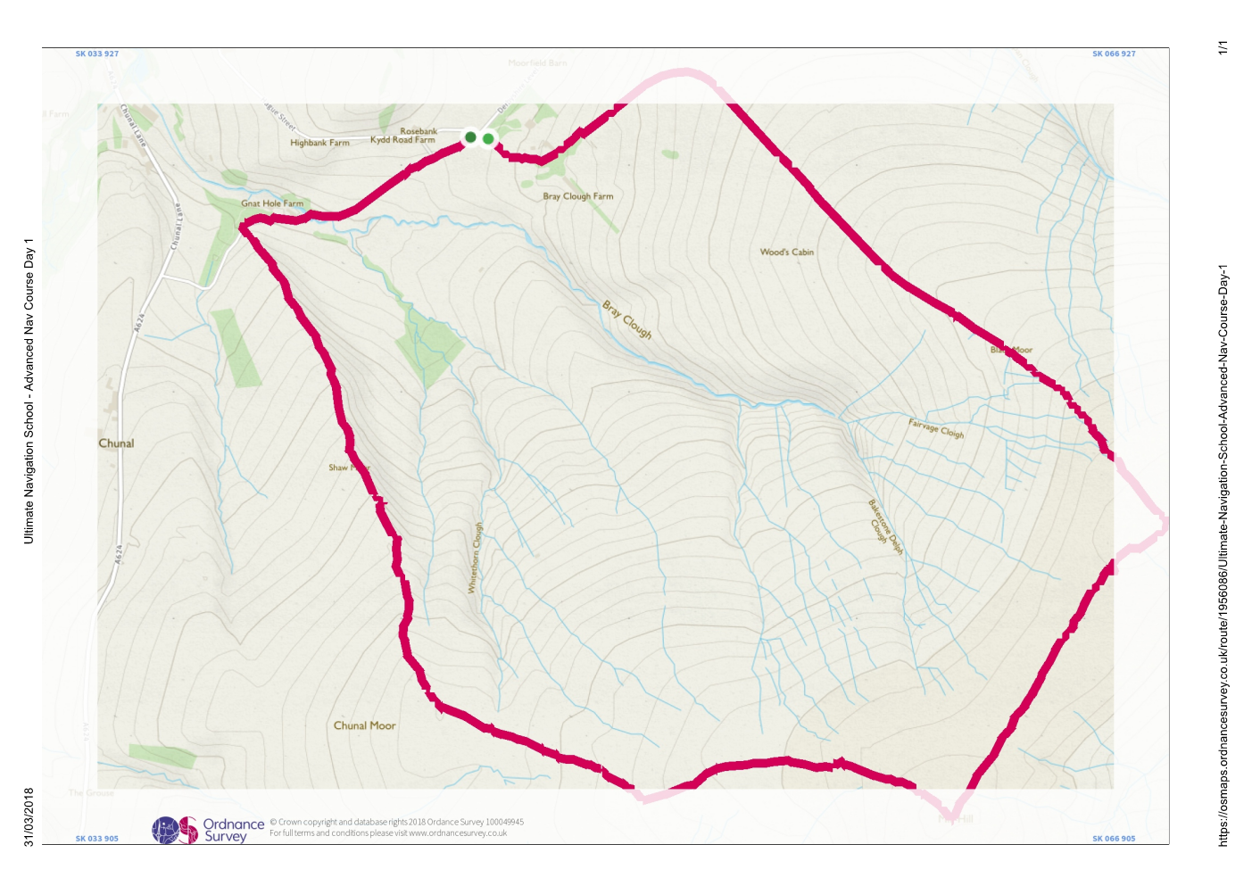 Saturday Day Route - UNS - Advanced Navigation Course