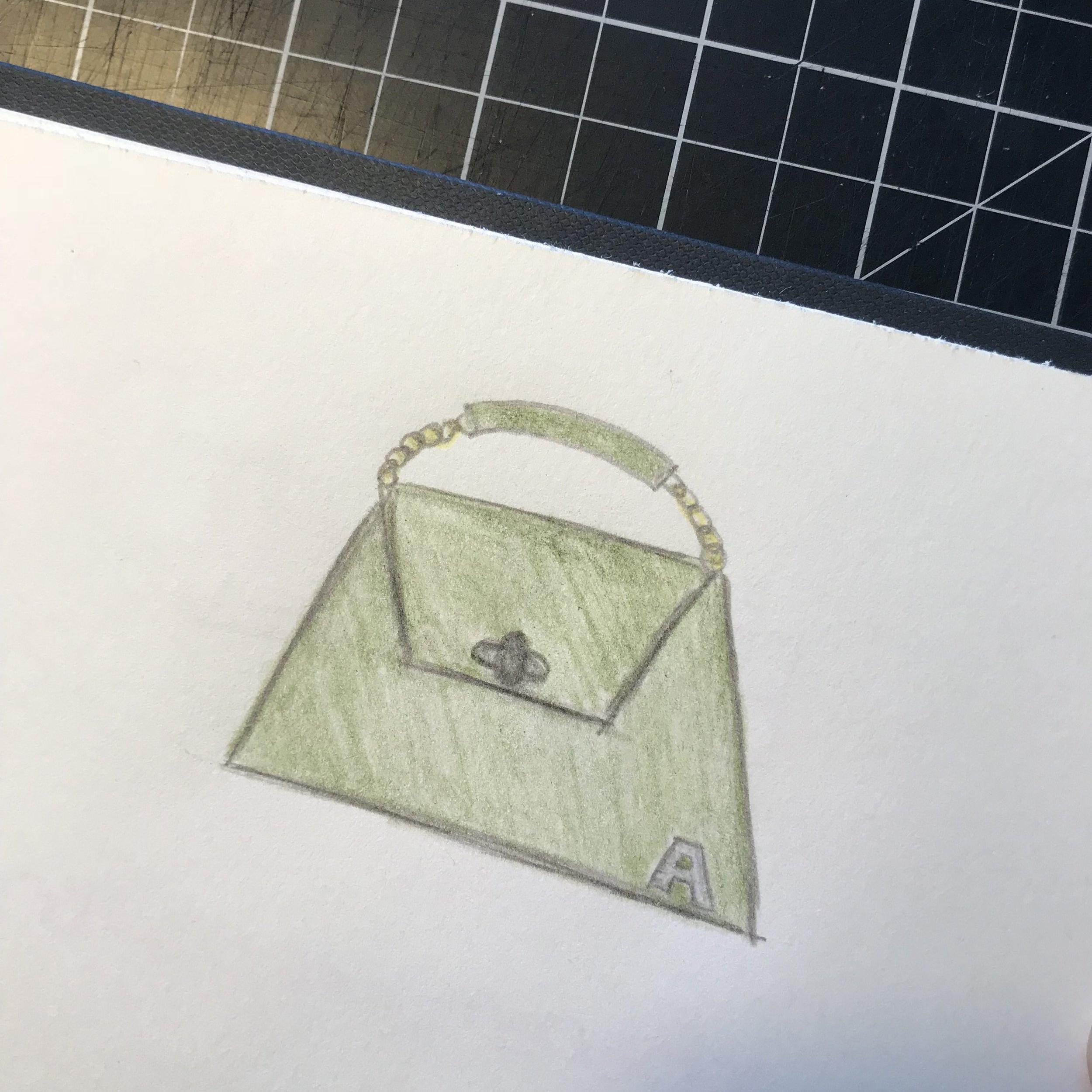 Sketch of a handbag design idea I had