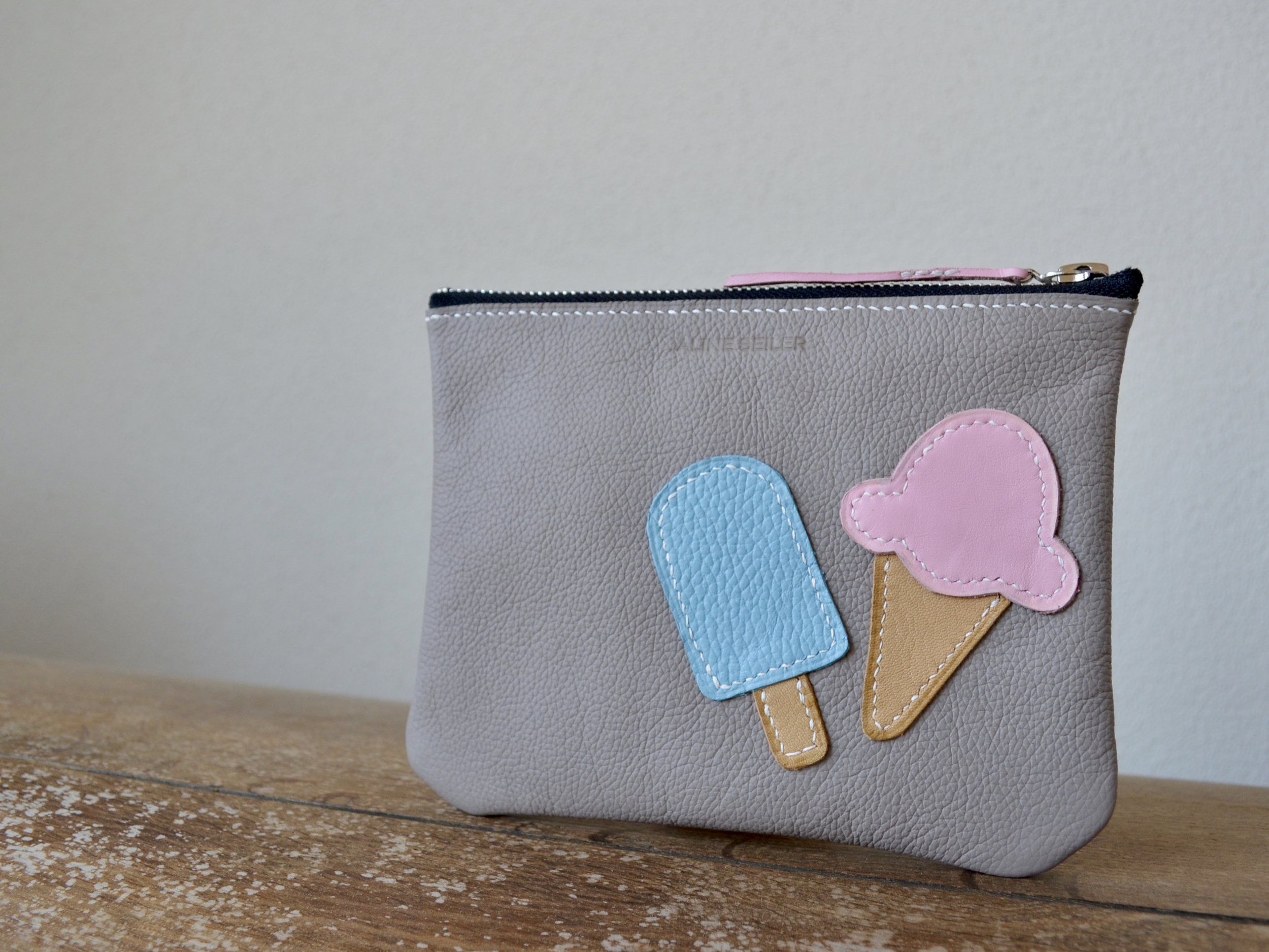 Custom Cosmetic Pouch with Ice Cream Application