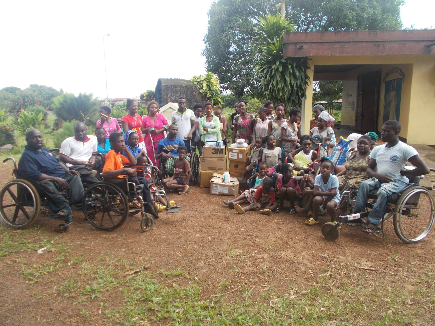 Mission of Hope for the Disabled monthly food supply.