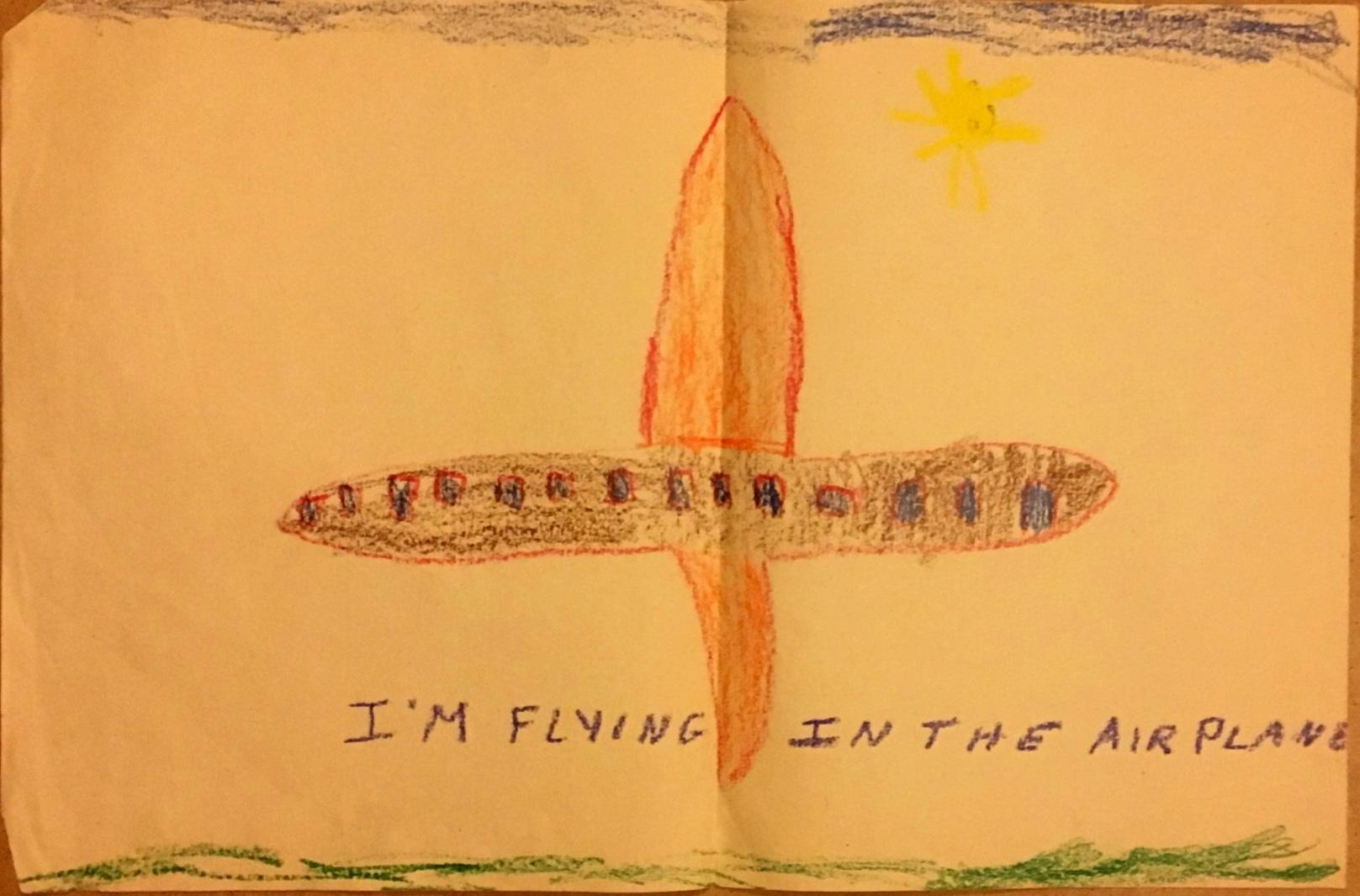 Justine's Kindergarten Airplane Drawing