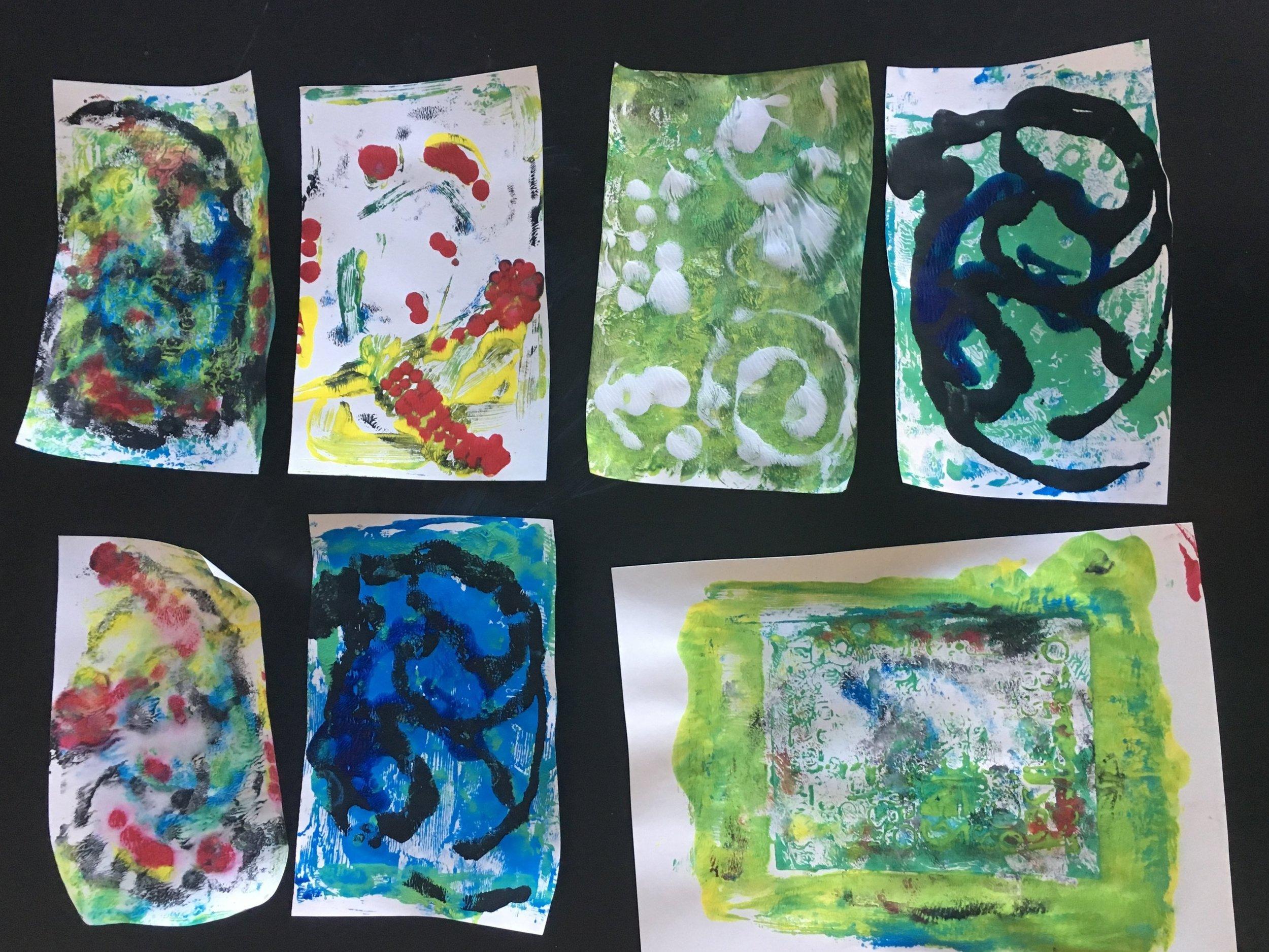 Mono printing - 3rd-5th Graders