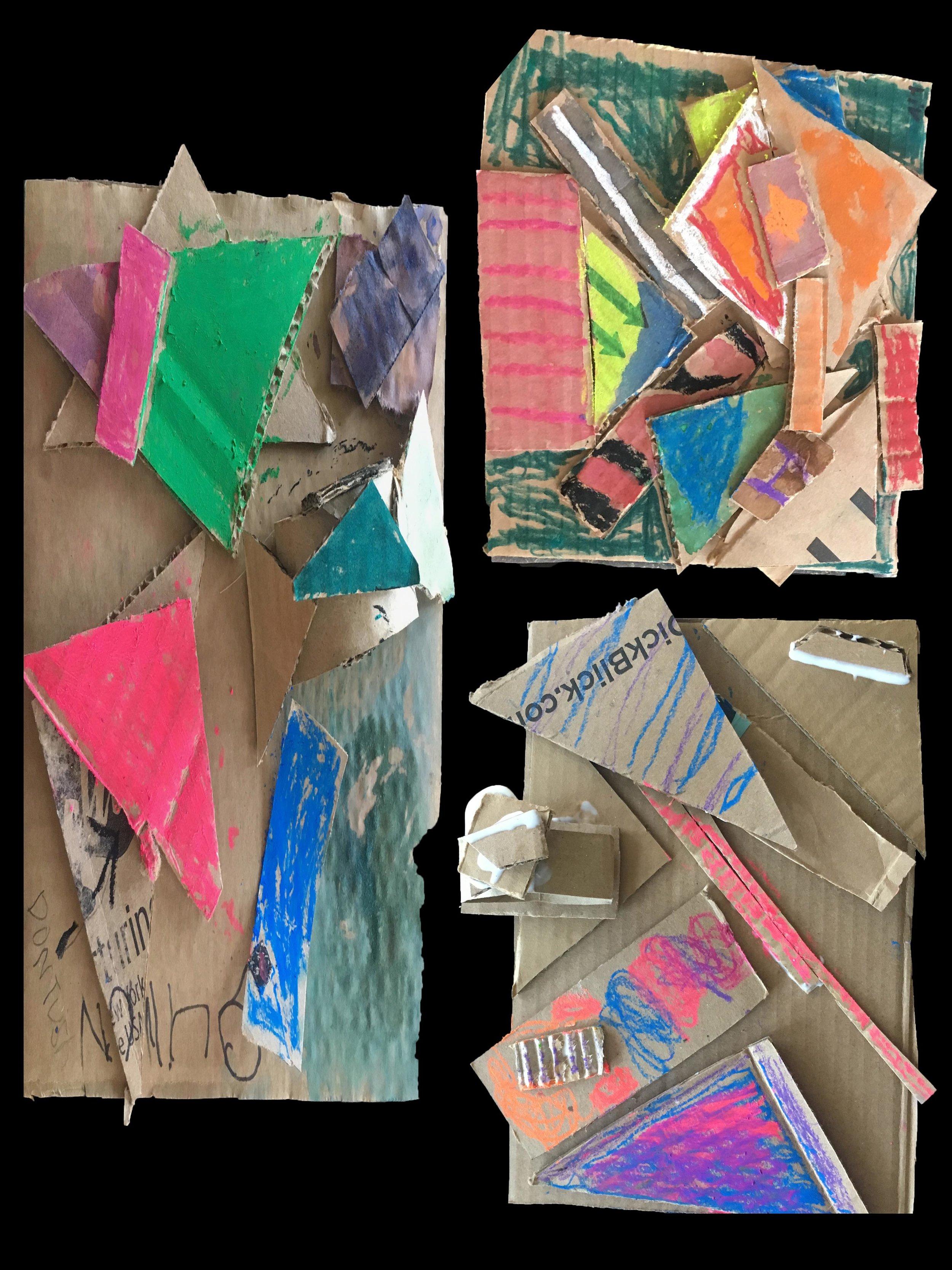 Cardboard Relief-1st Grade