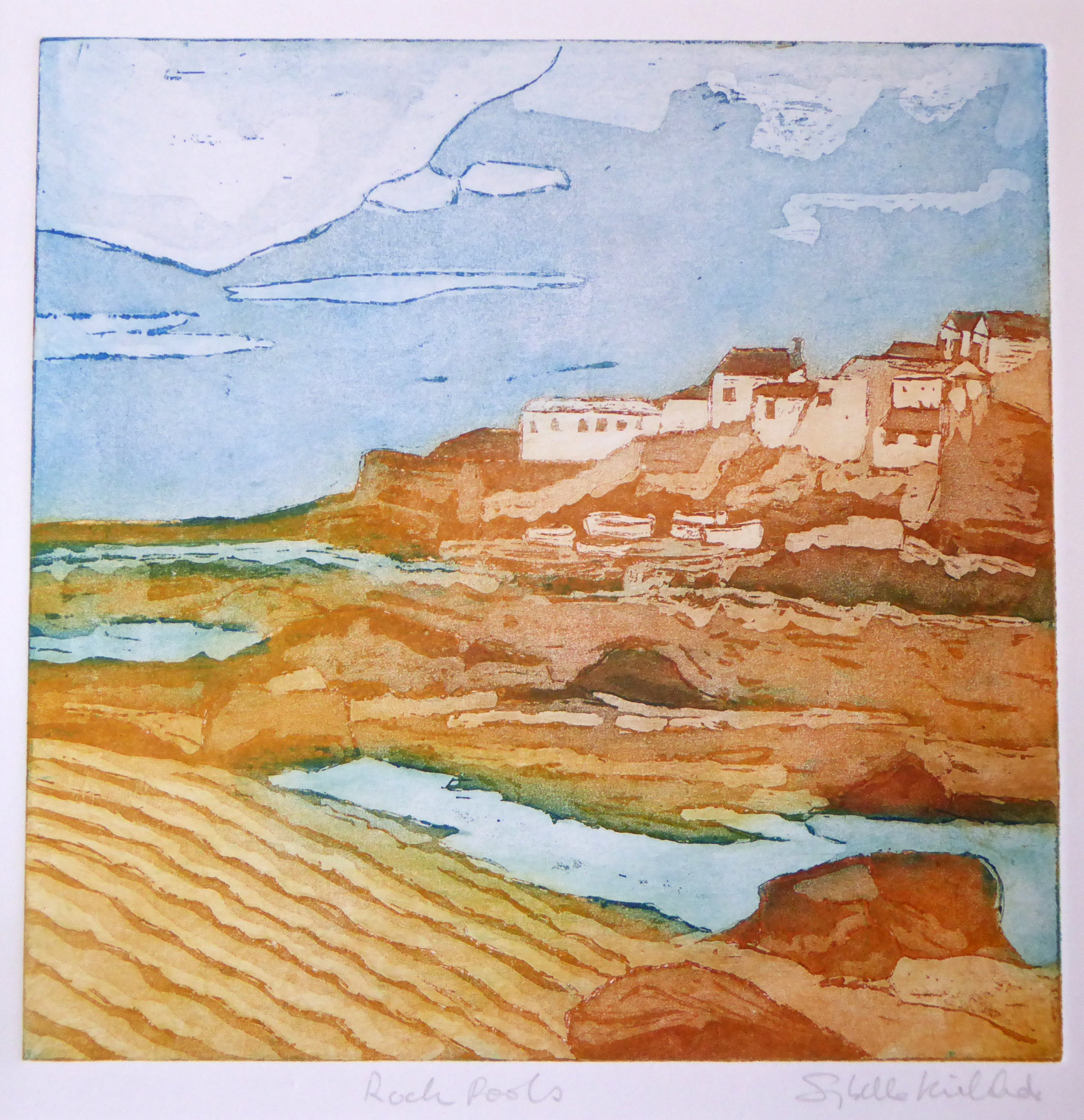 Coverack Rock Pools - 36 x 35cm (unframed)