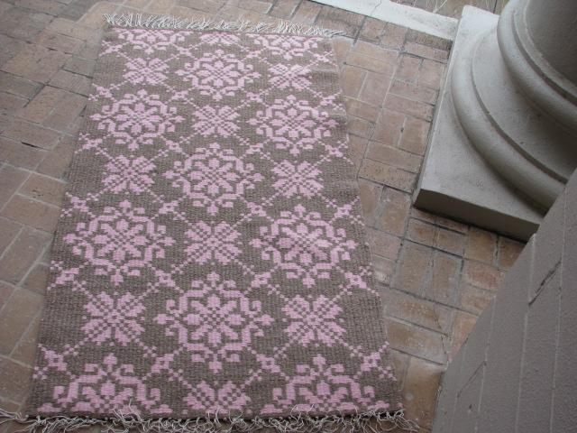 Lithuanian Sash rug #2 - Sold ( reverse side)