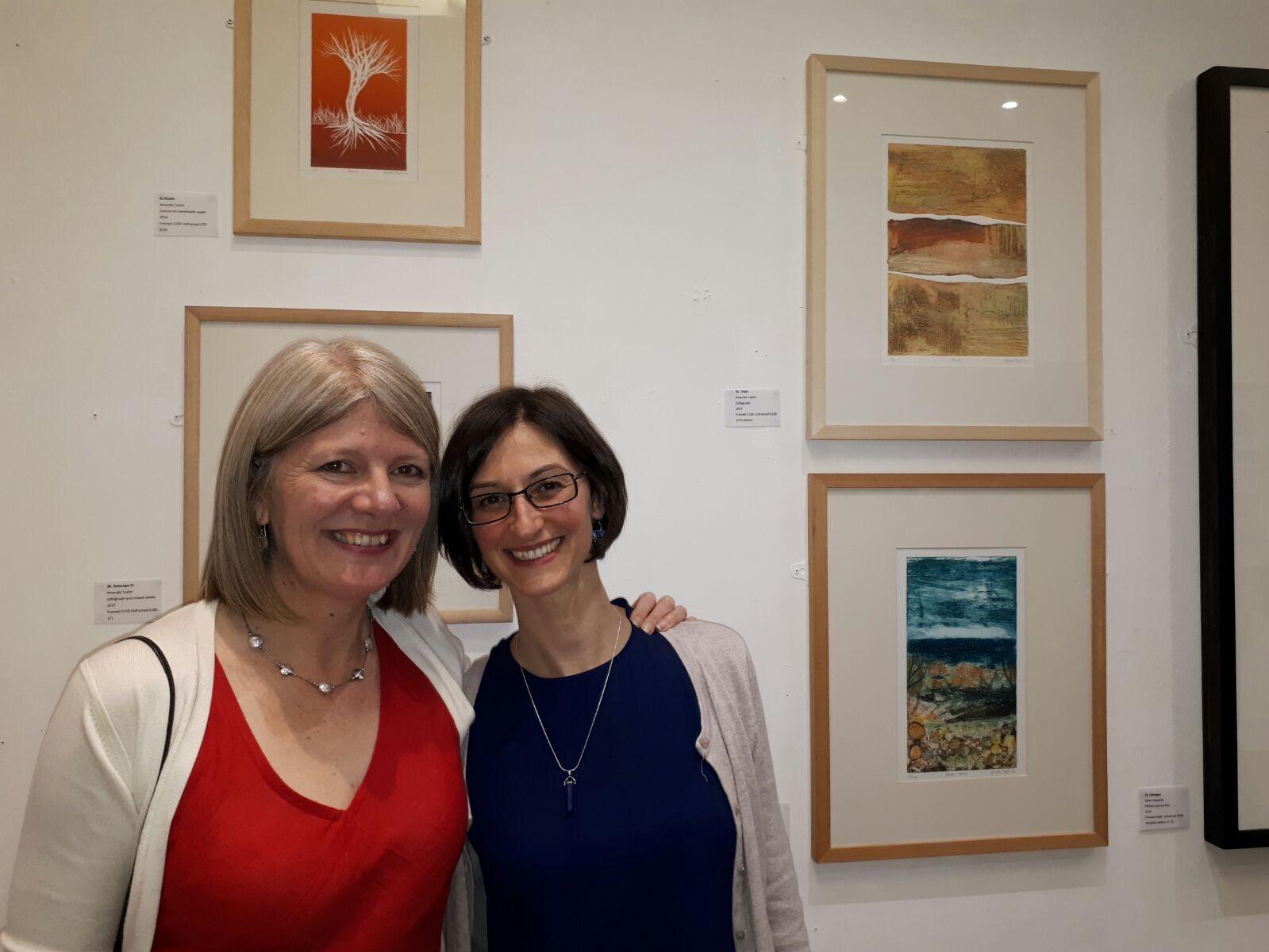 Amanda and Flavia at one of Amanda's exhibitions