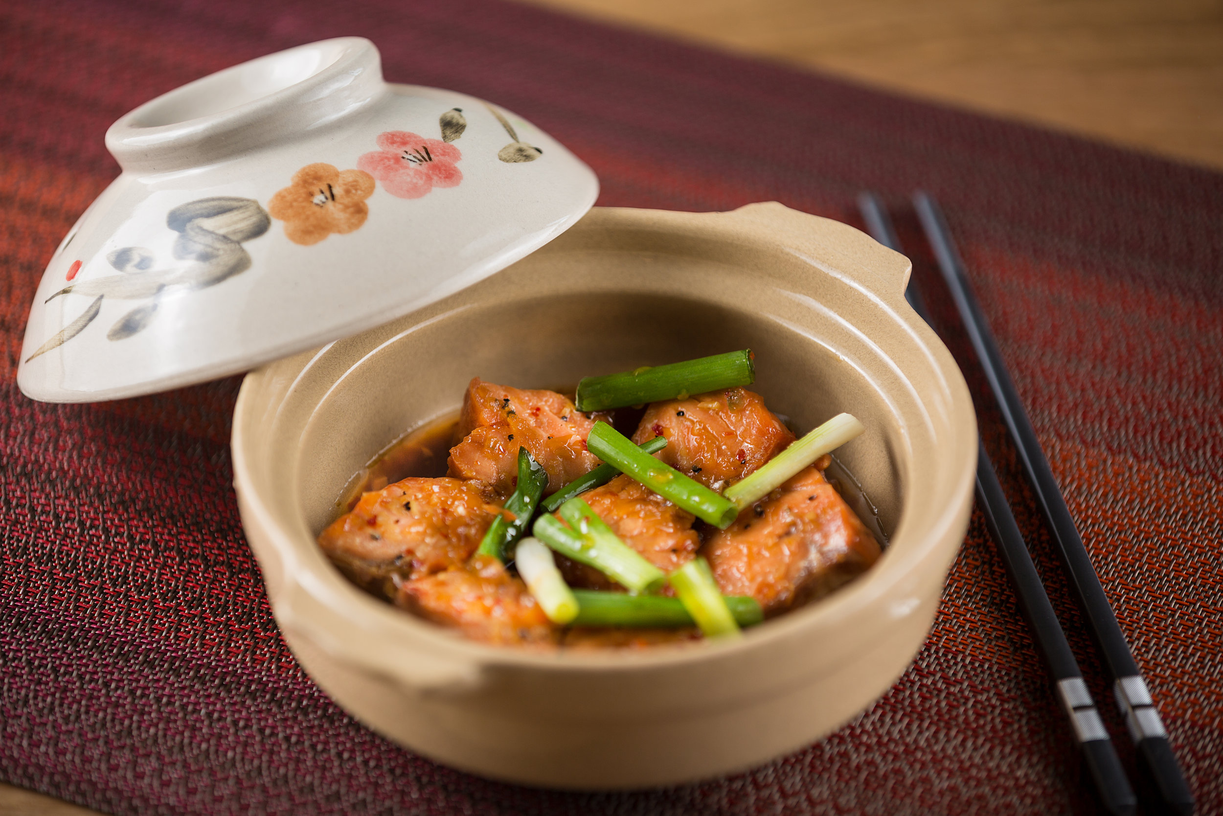 Claypot Arctic Salmon in Caramel Fish Sauce