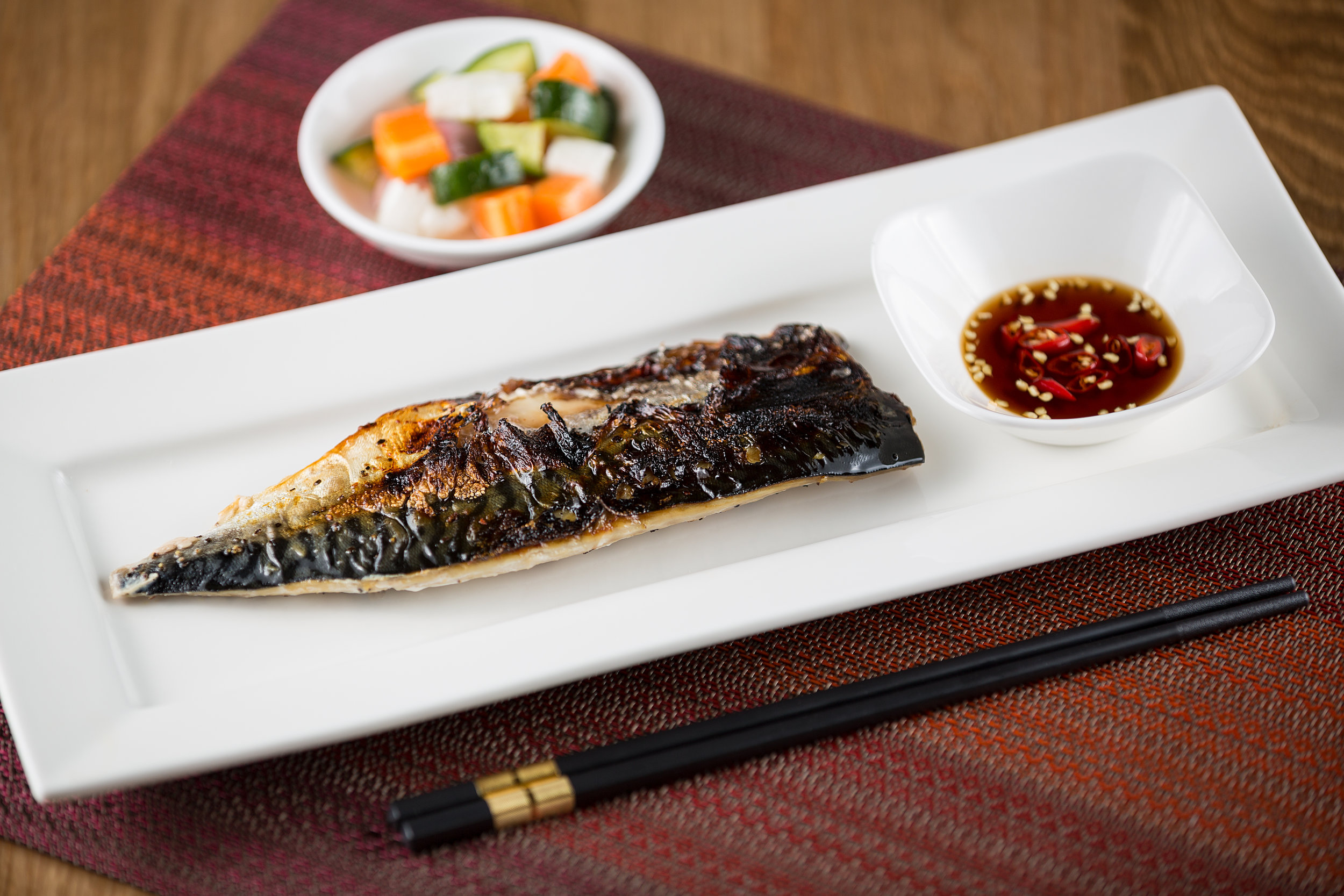 Grilled Marinated Mackerel