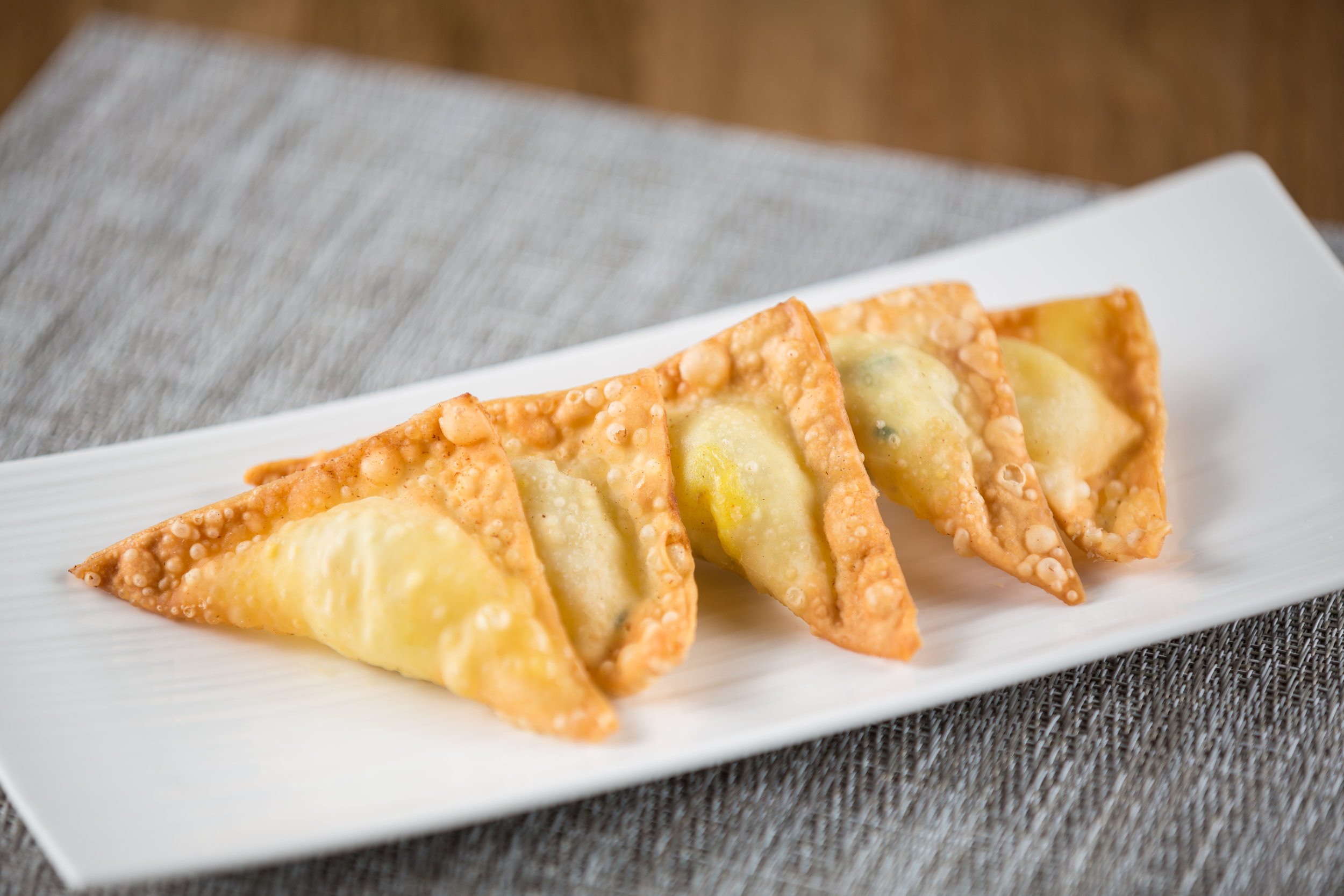 Fried Curry Chicken Puffs