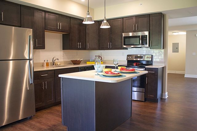 Experience the Hankin Apartments difference. This apartment home at New Kent offers back splash, stainless steel appliances and quartz counter tops. It's the little details that make it feel like home🏠  #apartmentlife #westchesterpa