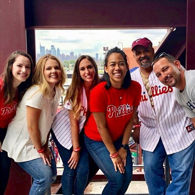 #Regram from @newkentapartments  we had so much fun at the @phillies game last week!! ❤️💙⚾️#lovewhereyouwork #hankinapartments