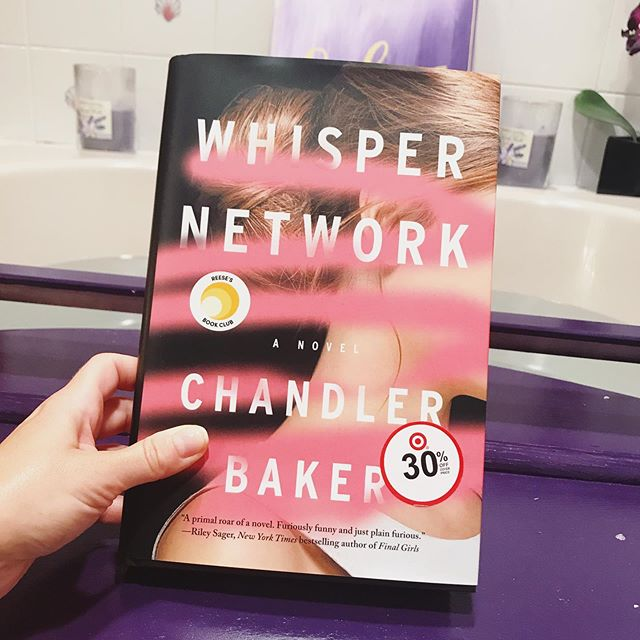 So far I'm liking it. I'm getting a little confused with names so I started taking notes. But I like it more than I thought I would. #bookworm #bookstagram #reesewitherspoonbookclub #whispernetwork #thewhispernetwork #bookaholic #bookobsessed #currentlyreading #thismomreads #booksandbubbles @chandlerbakerbooks
