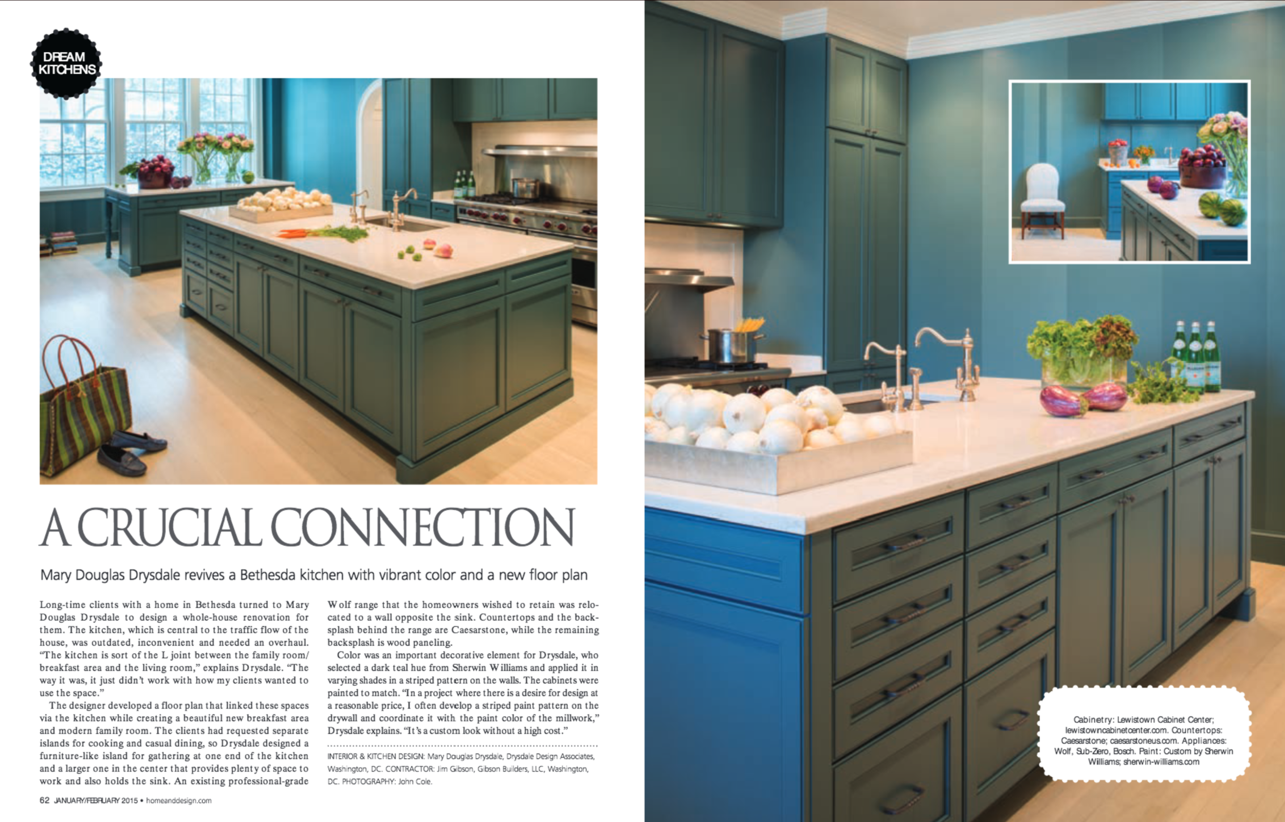 Home & Design Magazine  Winter 2015 Issue Drysdale Design Associates