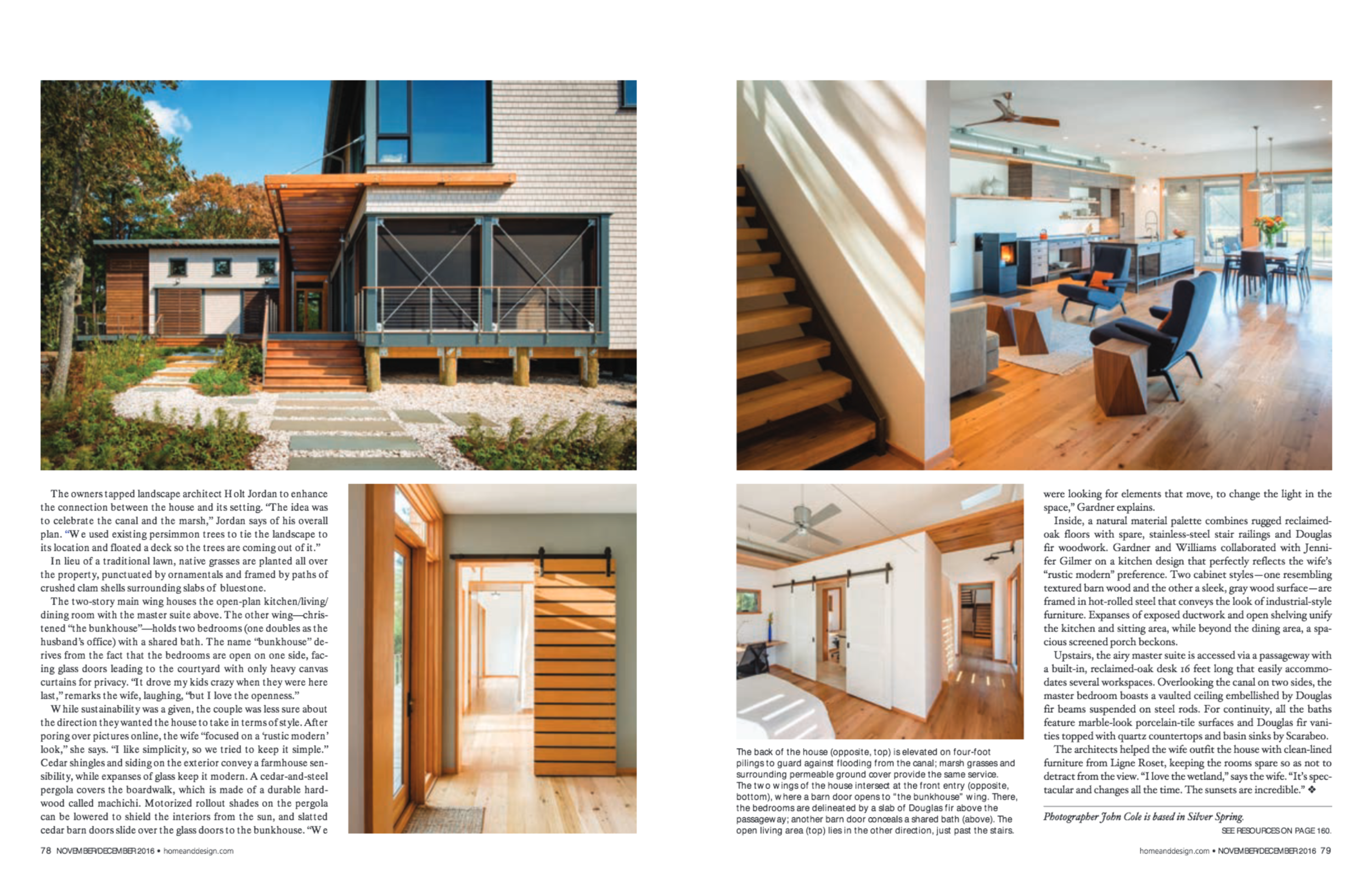 Home & Design Magazine  Late Fall 2016 Issue Gardner Mohr Architects