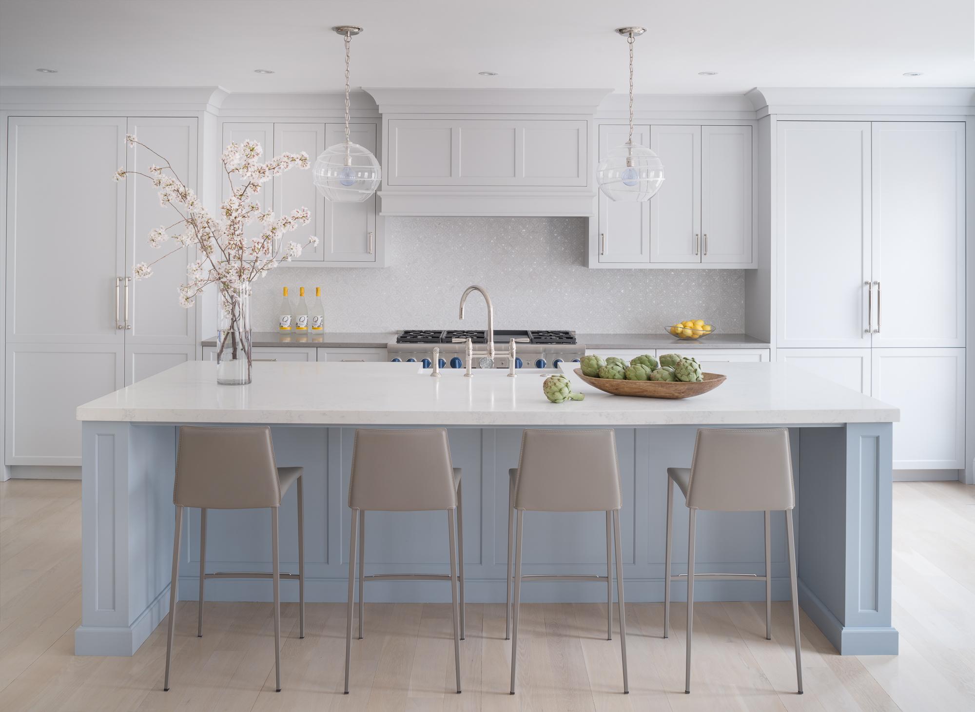 Transitional Blue Kitchen  Jennifer Gilmer Kitchen & Bath Washington, DC