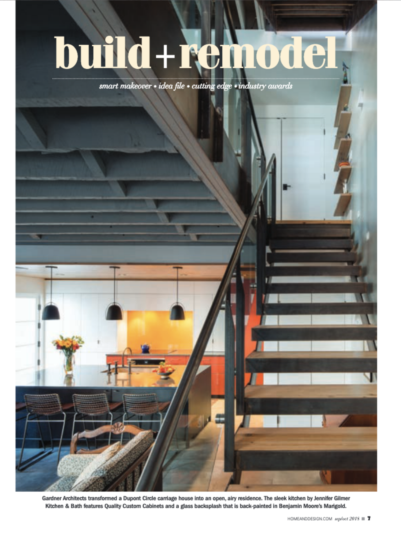 Home & Design Magazine  September/October 2018 Gardner Architects
