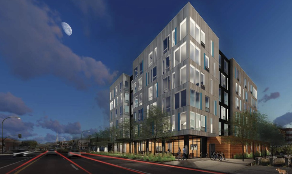 Rendering of the Mortimer's project at Lyndale & Franklin