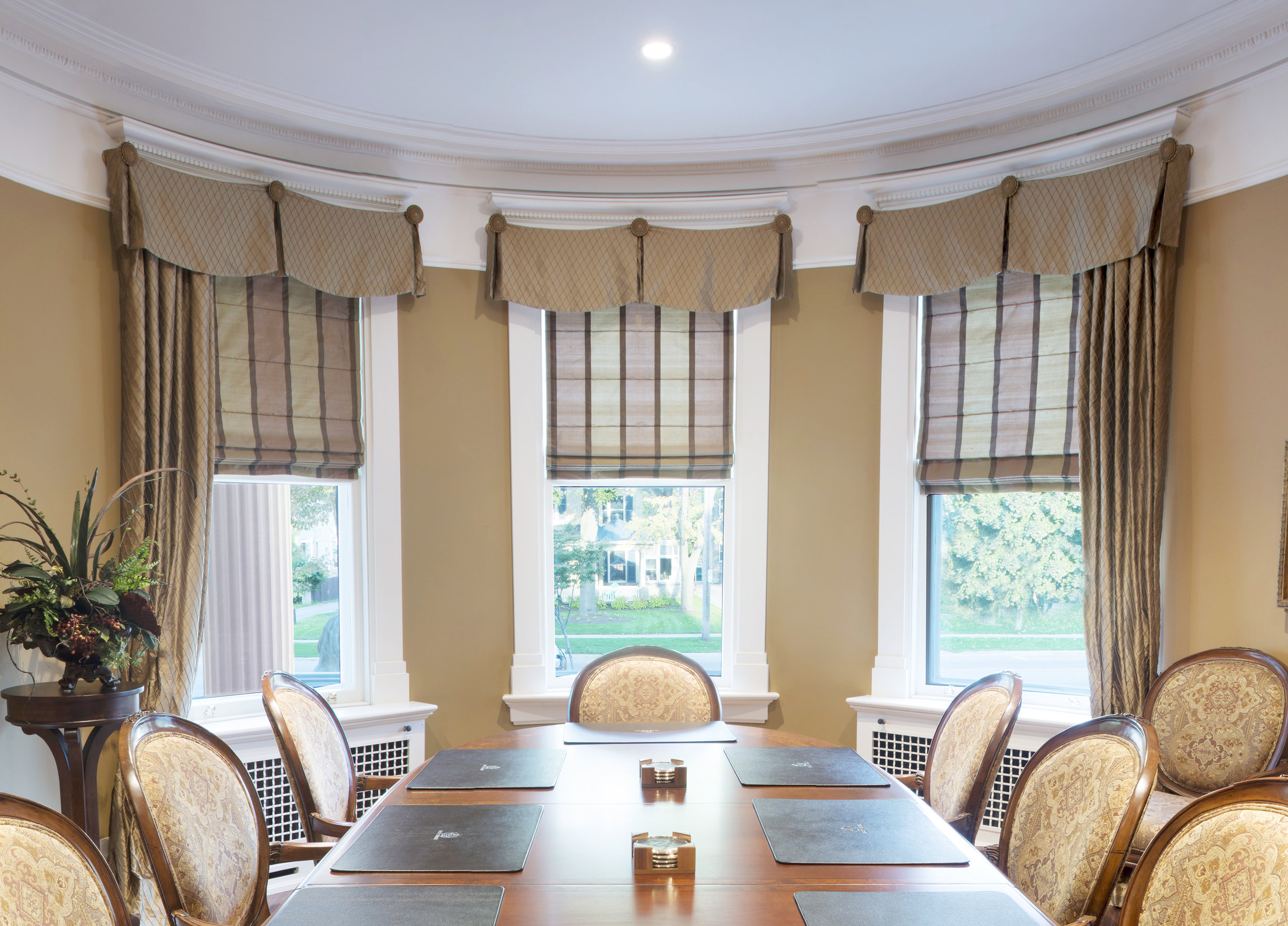 Custom Window Treatments - Choose from a wide variety of fabrics and styles. From California Shutters to Drapery, Window treatments are not only nice to look at but are functional for keeping sunlight out and for giving you privacy.