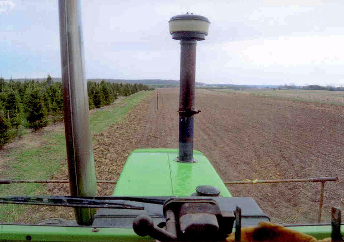 Markers Down The Field Keep Rows Straight
