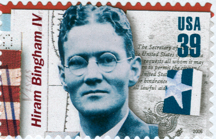 """United States postage stamp honoring diplomatic rescuer Hiram """"Harry"""" Bingham, IV. Issued June 2006."""