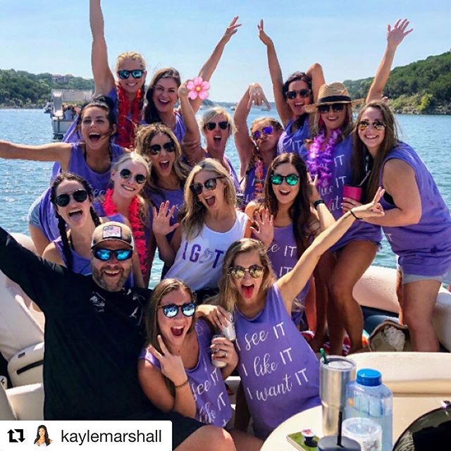 @atxwake fan club 😜 @kaylemarshall ・・・ Word on the street was Jaimie had her bachelorette party this weekend??? THE. ABSOLUTE. BEST. TIME! We know how to put on a show 😜. Get ready for picture overload! #TimForTheWin #atxwake #laketravis #devilscoveatx #devilscovepartyboats #thankyounextname #imjunetaylor #wellnessupdate