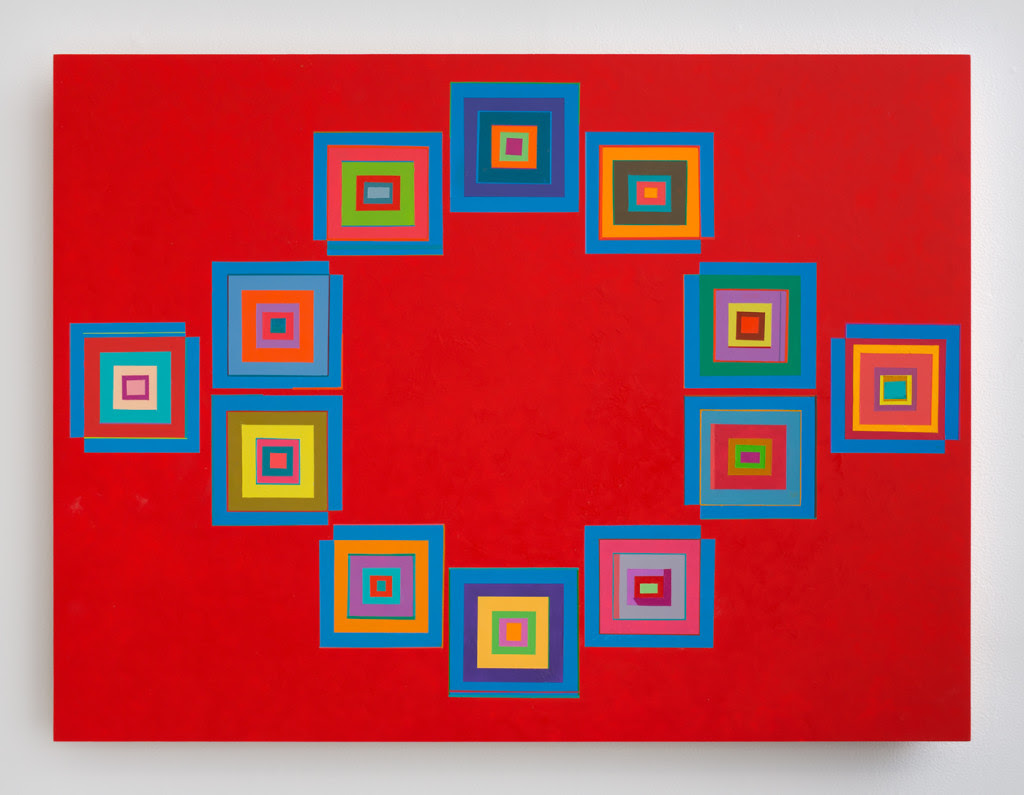 Marilyn Lerner. Squaring , 2014, Oil on wood, 30 x 24 inches