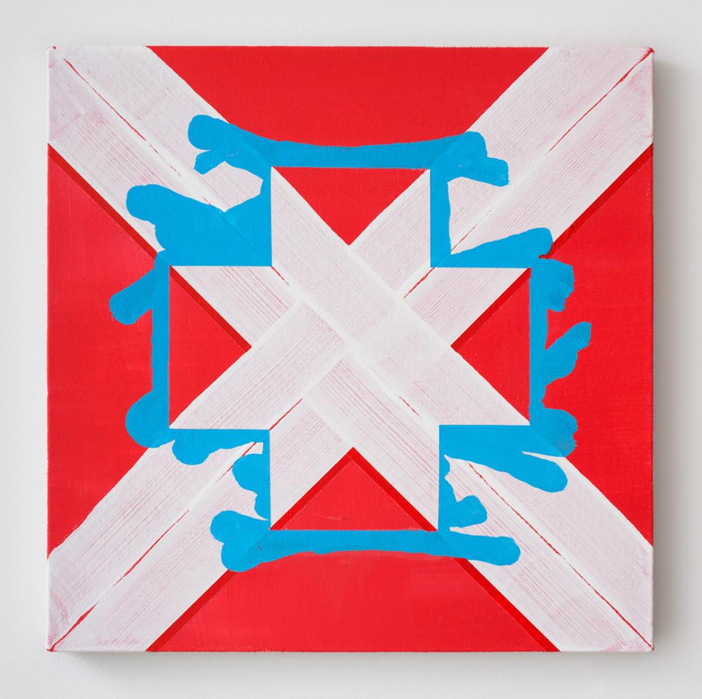 Gary Stephan. Untitled , 2015, Acrylic on canvas, 20 x 20 inches