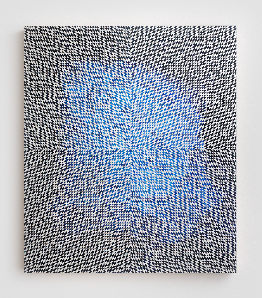 Equinox II , 2014,Oil and composition metal leaf on wood panel,25 x 21.5 inches