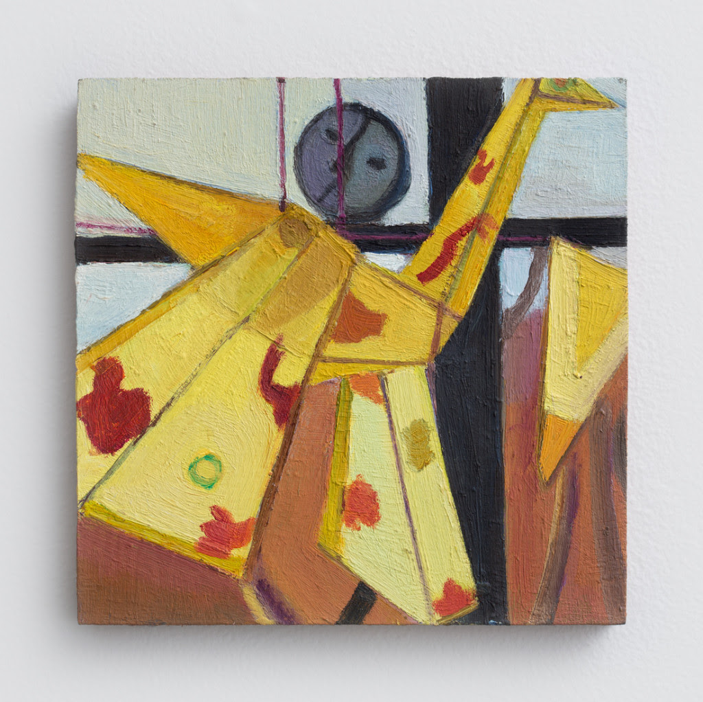 Emily Zuch.  Bird Kite , 2014, Oil on wood, 6.5 x 6.5 inches