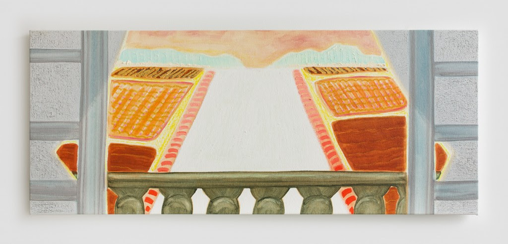 Southern Hospitality , 2013, Oil on pastel on canvas, 19 x 39 inches